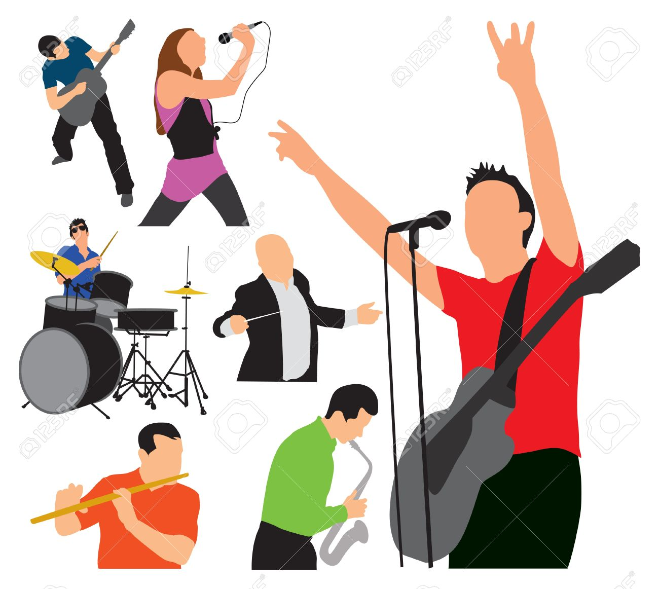ARTISTIC EXPRESSIONS music illustration Stock Vector - 21448151