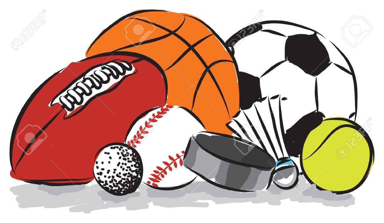 Clip Art Sports Balls Clipart sports balls illustration royalty free cliparts vectors and illustration