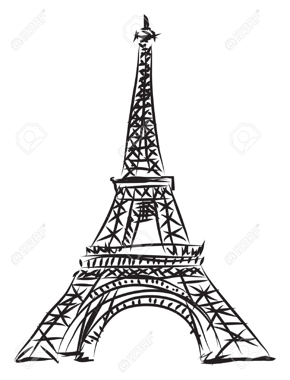 Eccezionale Tour Eiffel Illustration Royalty Free Cliparts, Vectors, And Stock  RV24