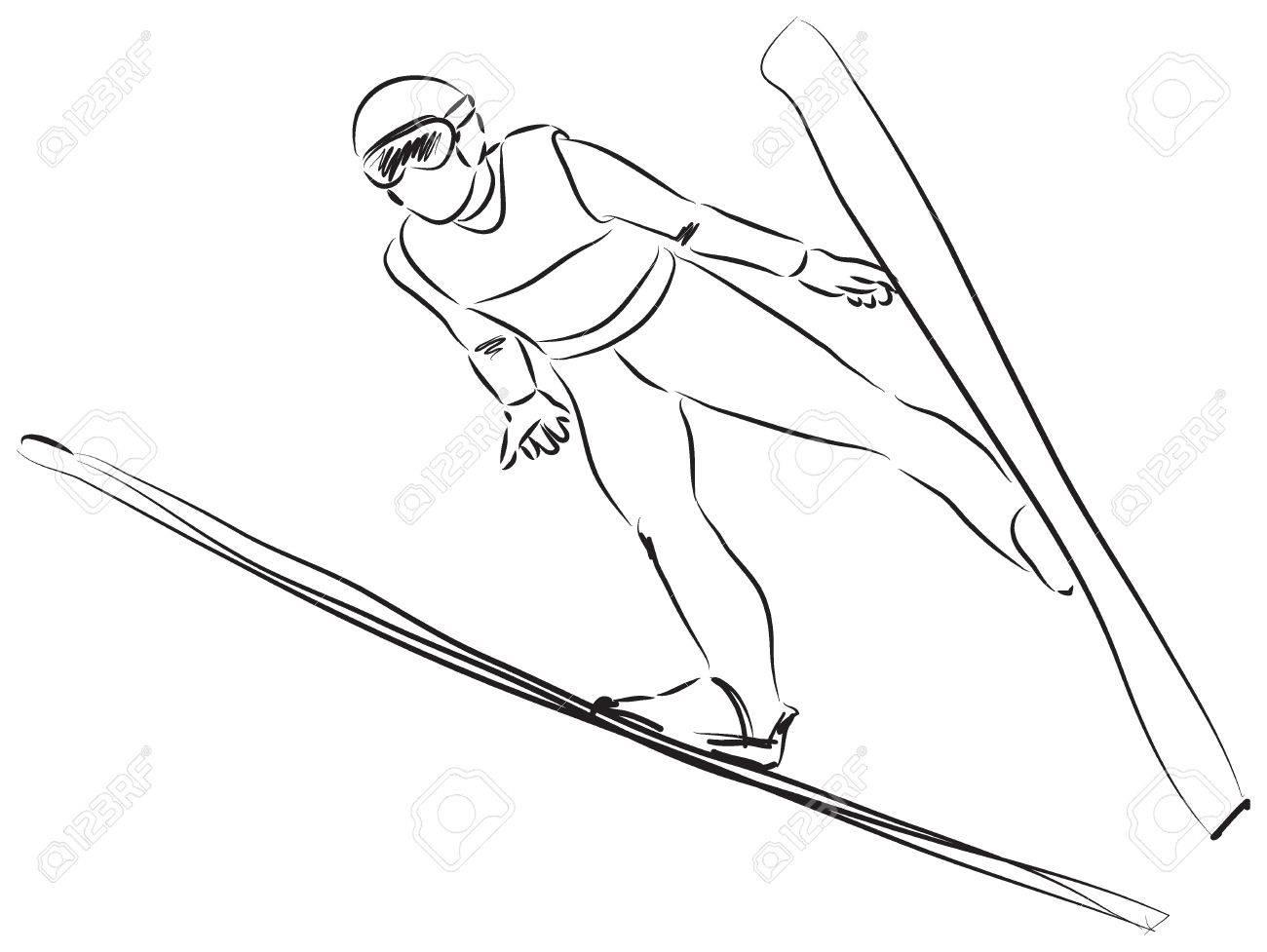 スキーのイラストのイラスト素材ベクタ Image 26112045