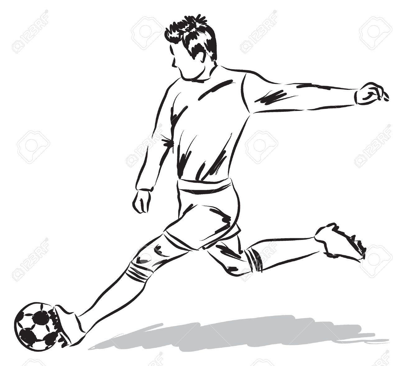 Football soccer player illustration stock vector 28506554