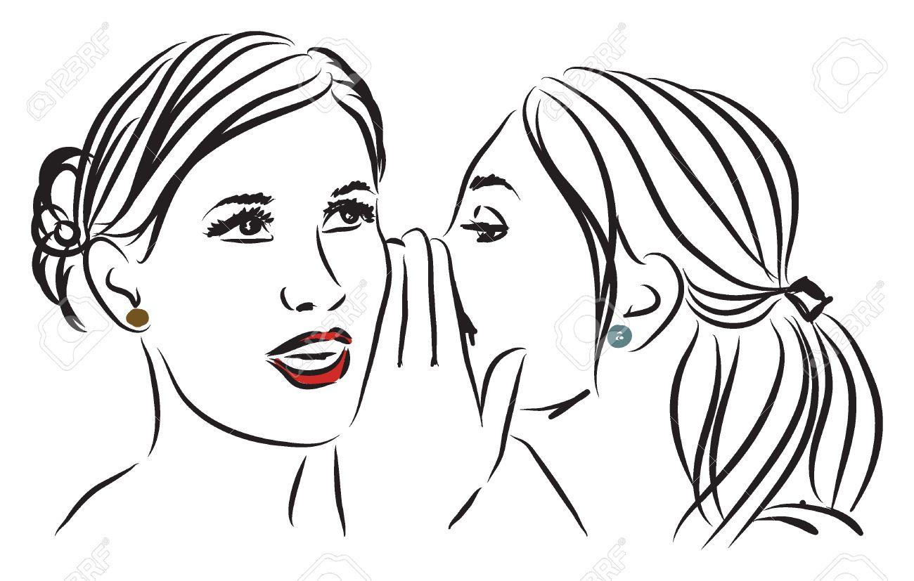 Telling Secrets Drawing Women Telling a Secret