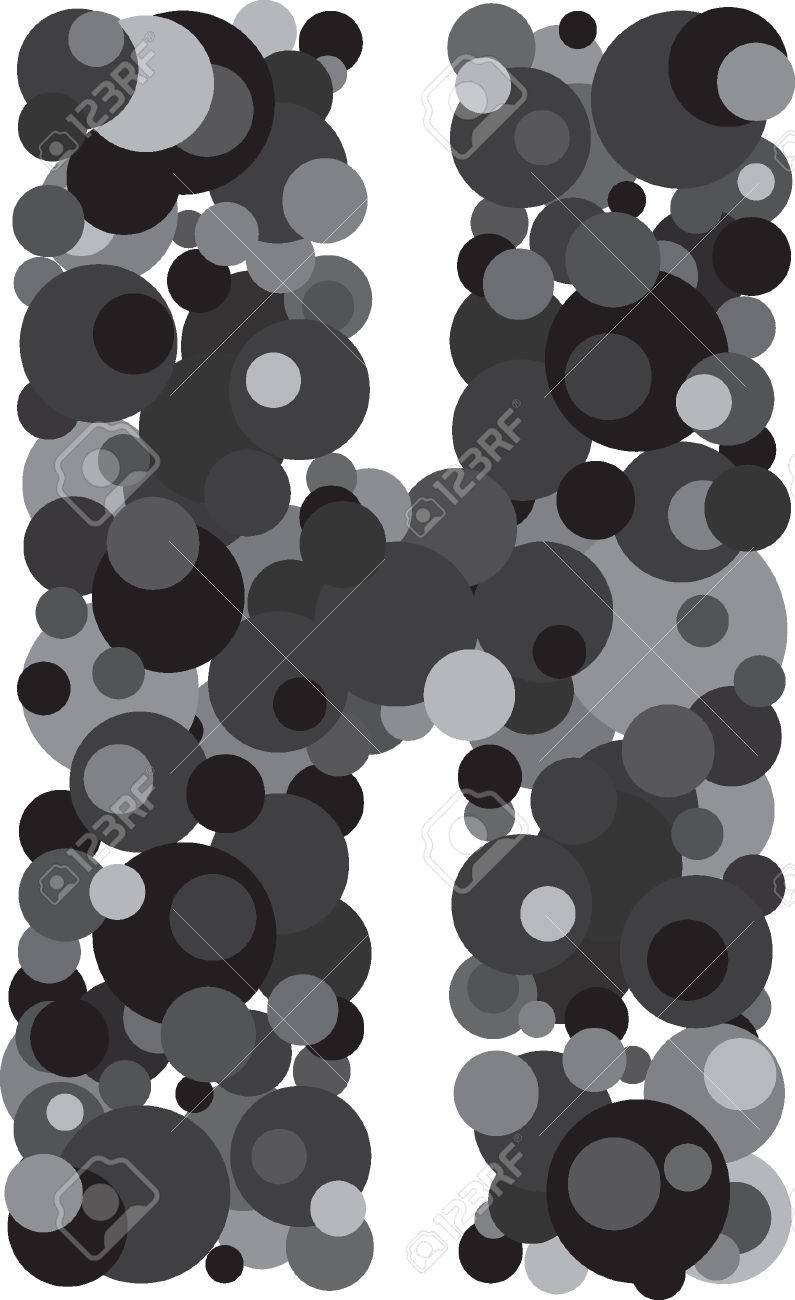 alphabet bubbles letter h illustration stock vector 40732358