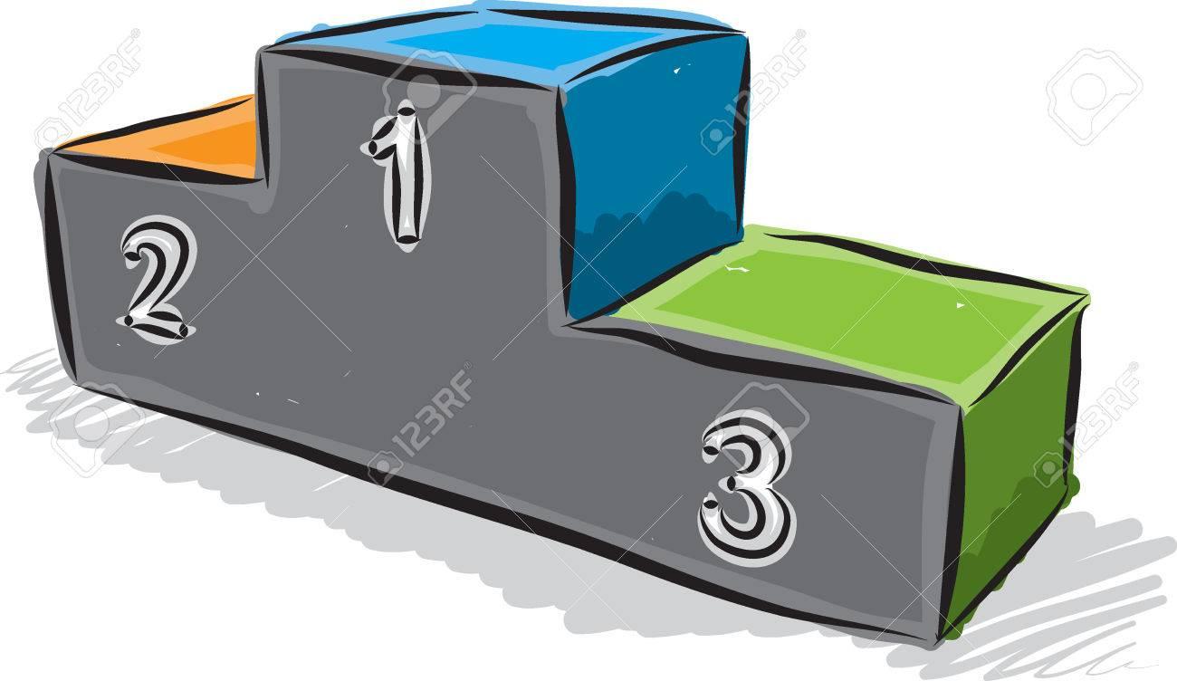 podium champion illustration - 52686239