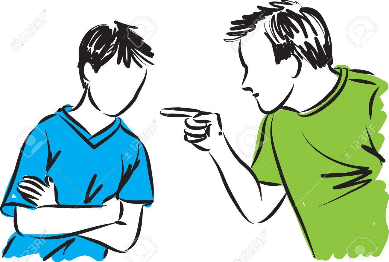 Padre E Hijo Los Padres Disciplina A La Ilustración Ilustraciones