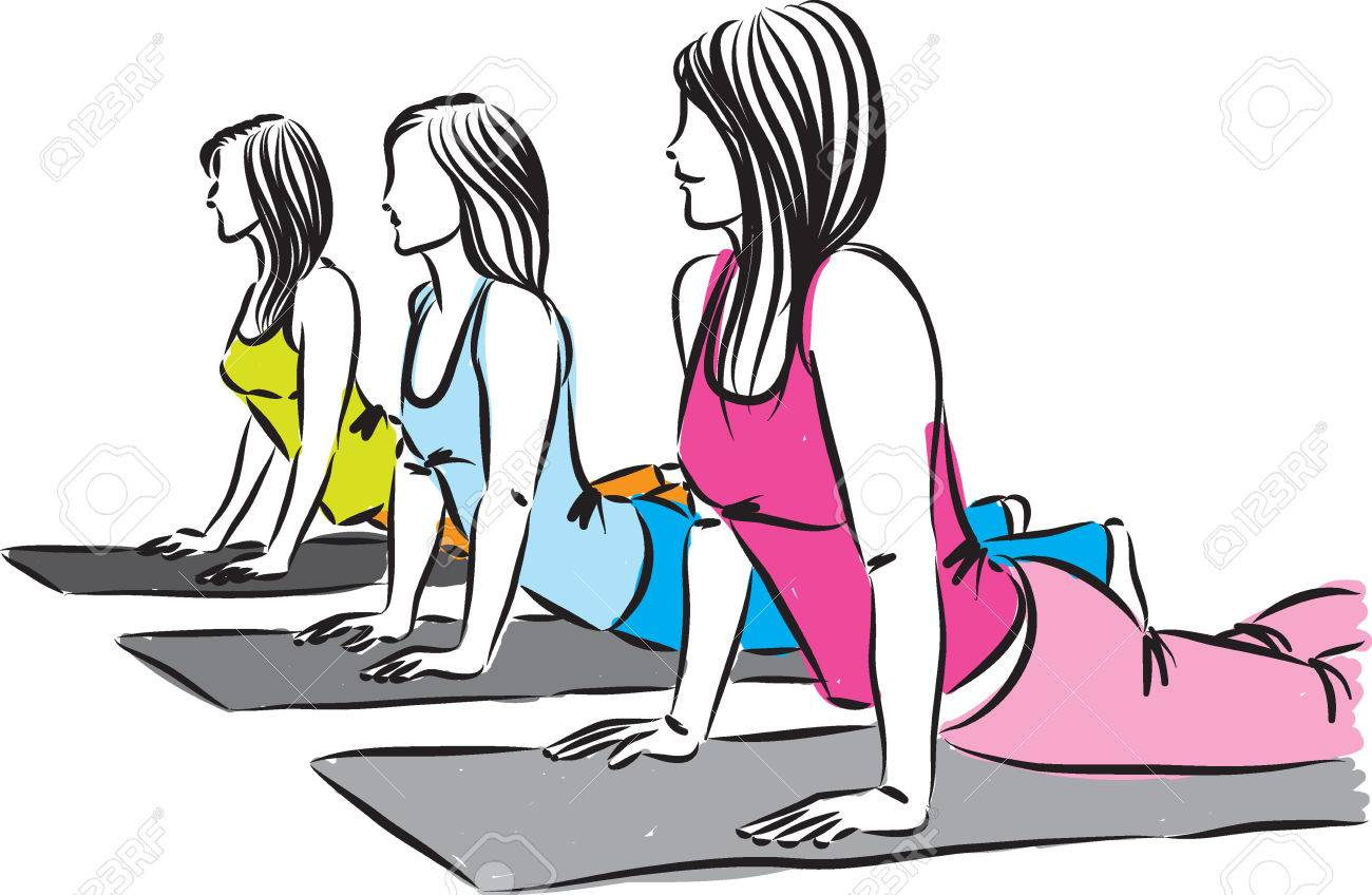 Image result for women working out cartoon