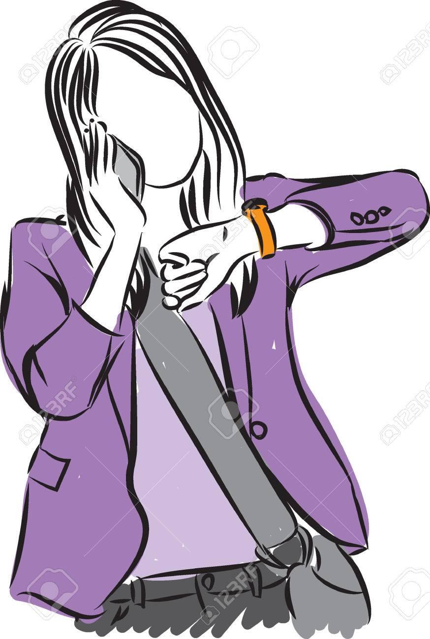 woman makeup illustration - 57155969