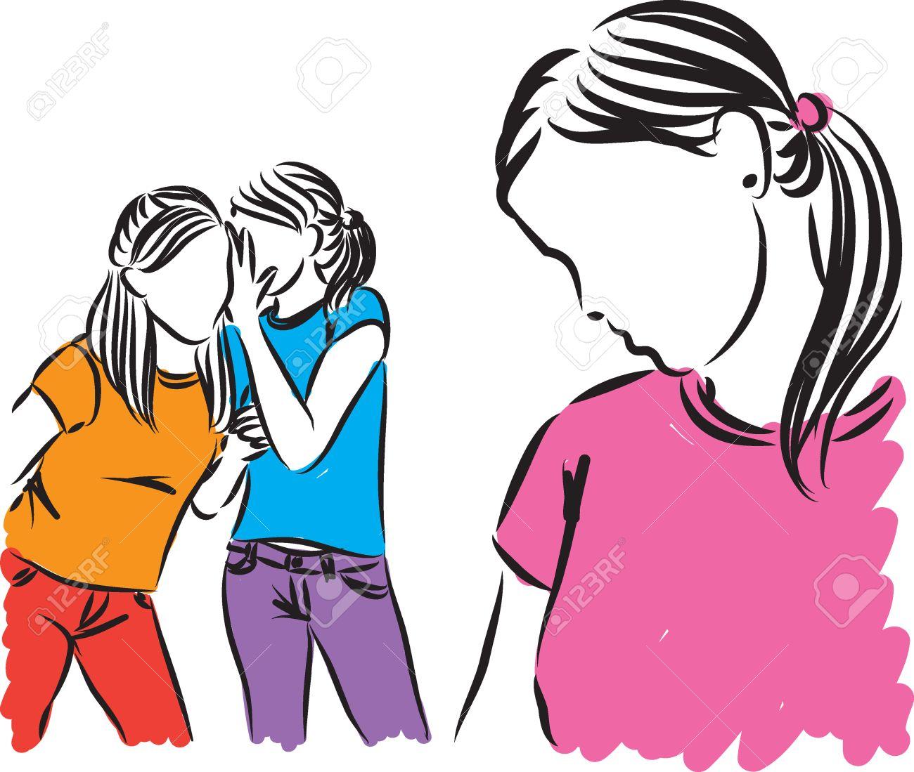 girls teenagers gossip illustration - 57805584