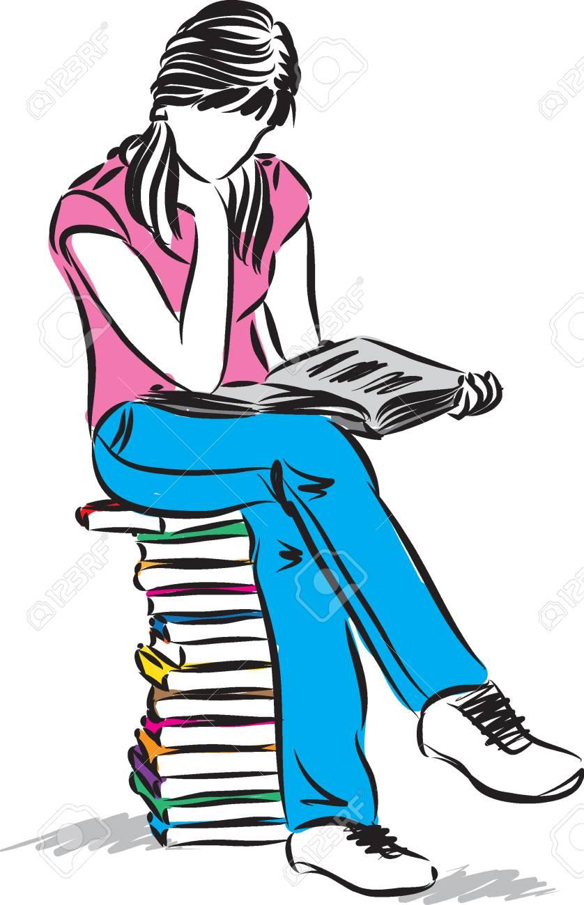 Resultado de imagem para teenager pile of books, free clipart