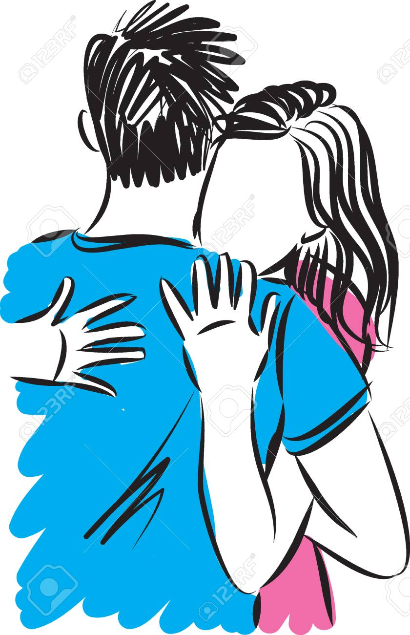 woman and man couple hugging vector illustration royalty free rh 123rf com women's day vector vector woman body