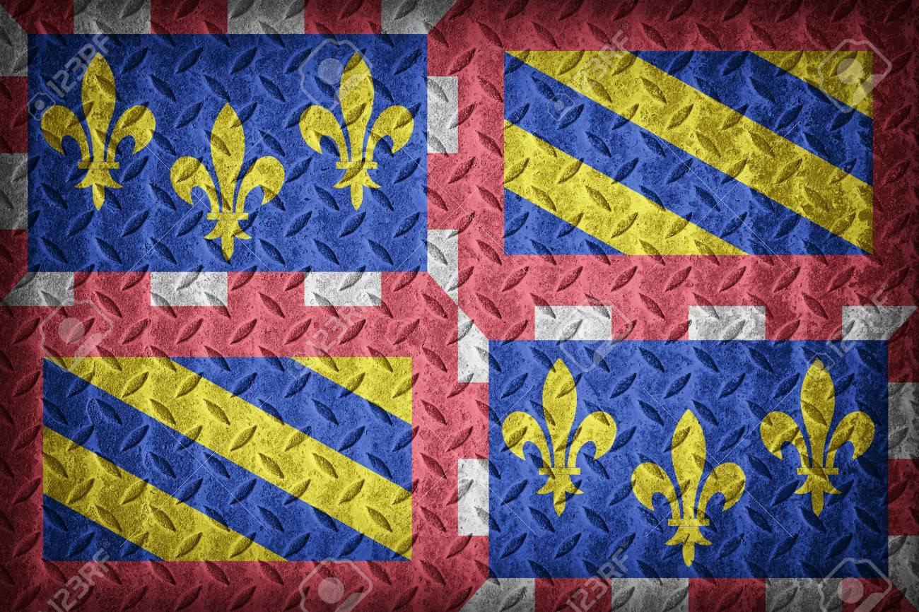 636d4ecaf152 Burgundy flag pattern on diamond metal plate texture ,vintage style Stock  Photo - 43805903