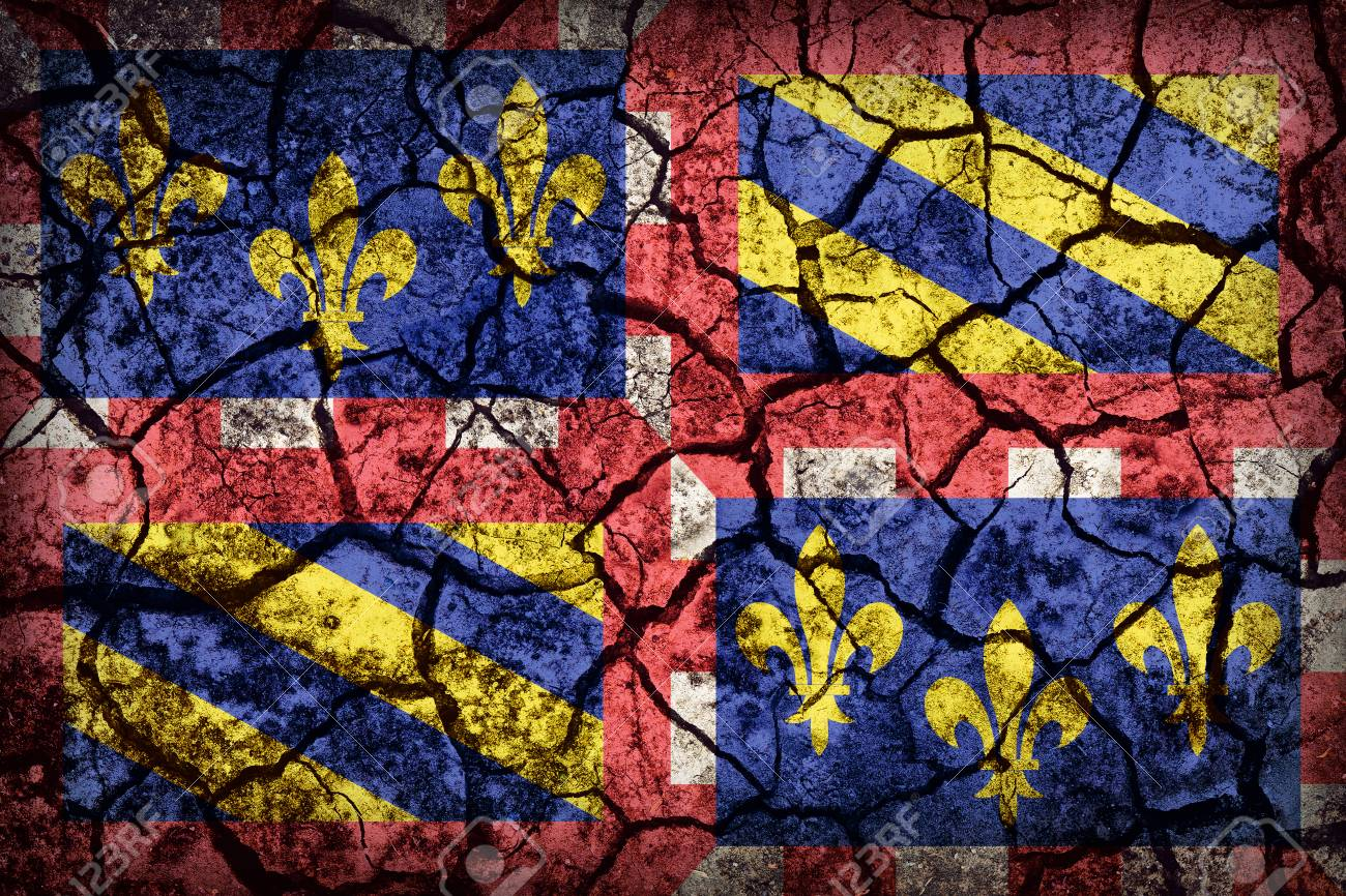 ee1c494cd52e Burgundy flag pattern on crack soil texture,retro vintage style Stock Photo  - 49657898