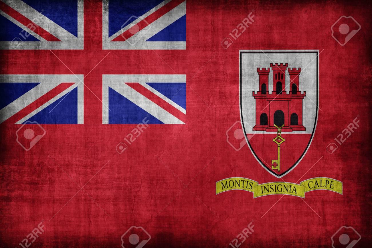 Ensign Civile Di Gibilterra Bandiera Modello Stile Retrò Vintage