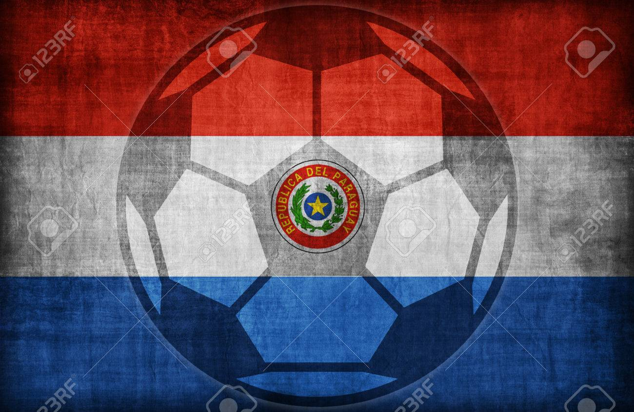 Paraguay flag symbol images symbol and sign ideas football symbol on paraguay flag patternretro vintage style stock football symbol on paraguay flag patternretro vintage buycottarizona