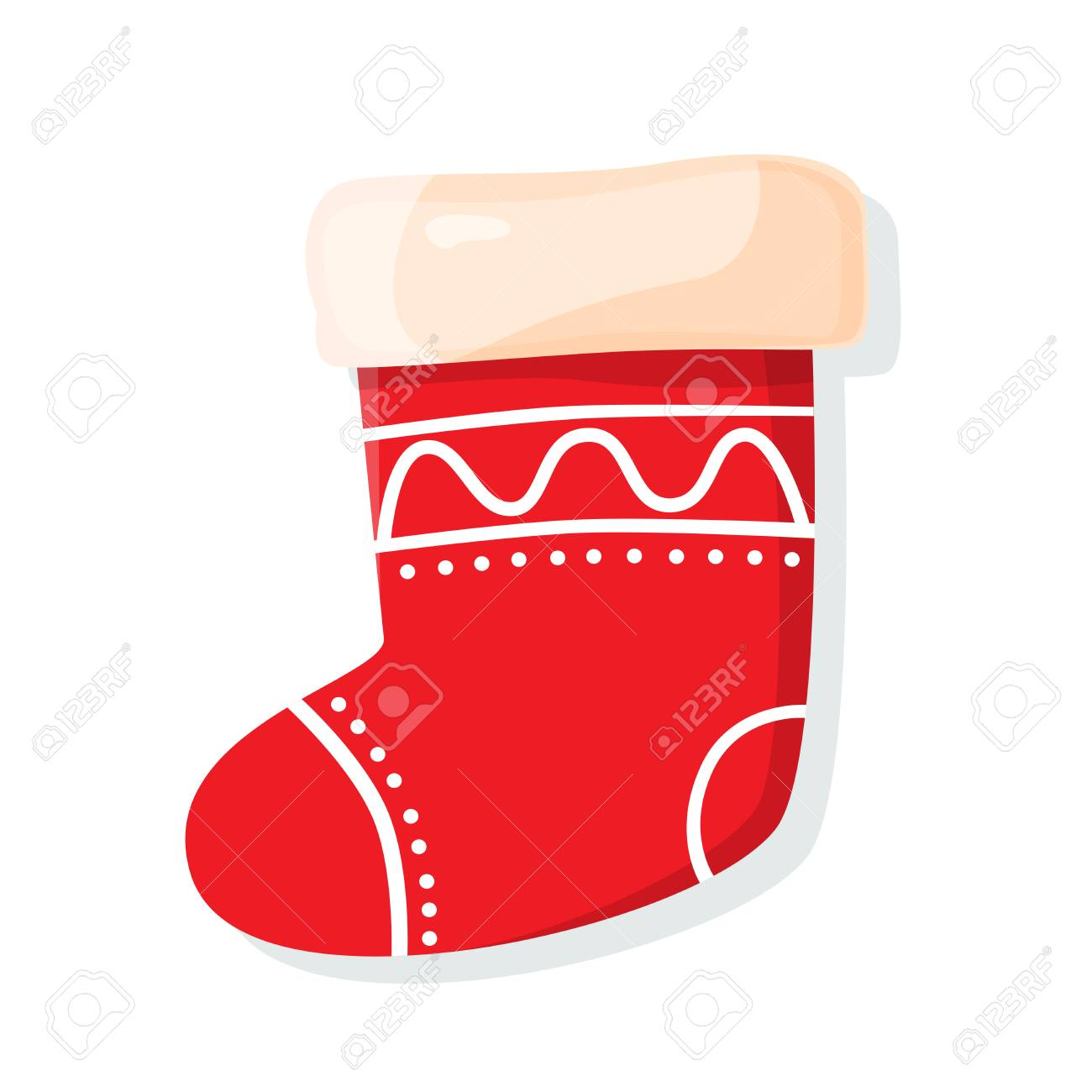 Christmas Sock Isolated On White Background Symbol Of Merry Royalty Free Cliparts Vectors And Stock Illustration Image 90064413