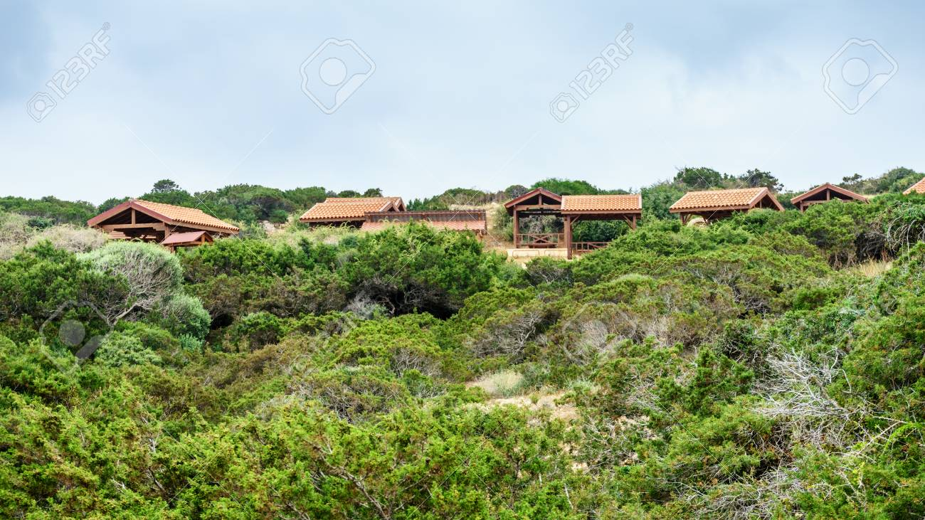 Verandas For Recreation In The Forest On The Coast Of Ayia Napa Stock Photo Picture And Royalty Free Image Image 78198245