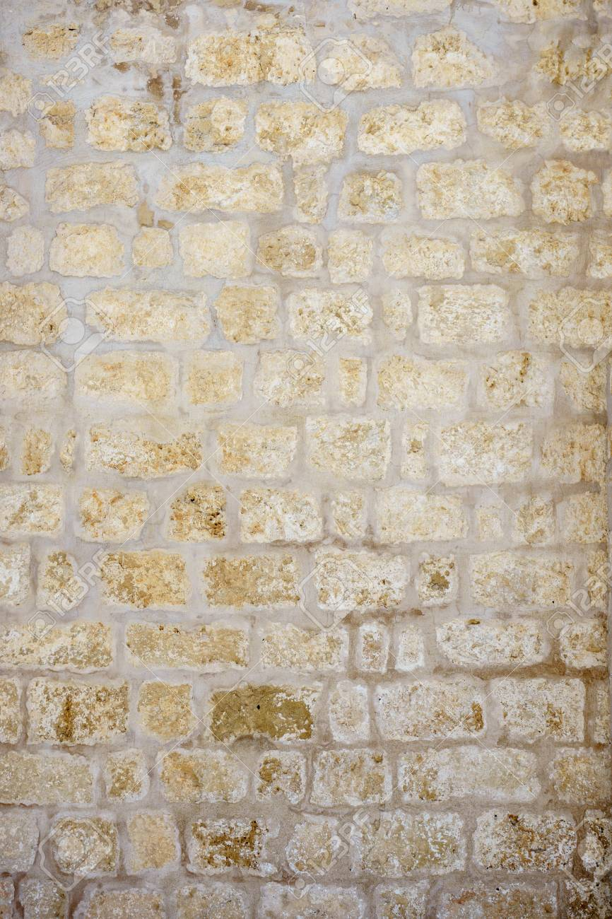 texture wall covered with stone - 97318989
