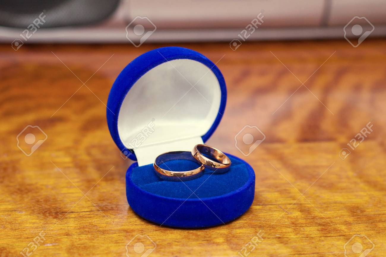 Wedding Bands Wedding Rings In The Blue Box Wedding Jewelry Stock Photo Picture And Royalty Free Image Image 60429428