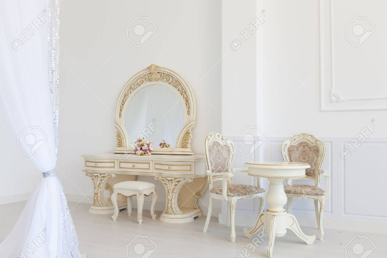 Phenomenal Light Interior Of The Room In Classical Style White Furniture Pabps2019 Chair Design Images Pabps2019Com