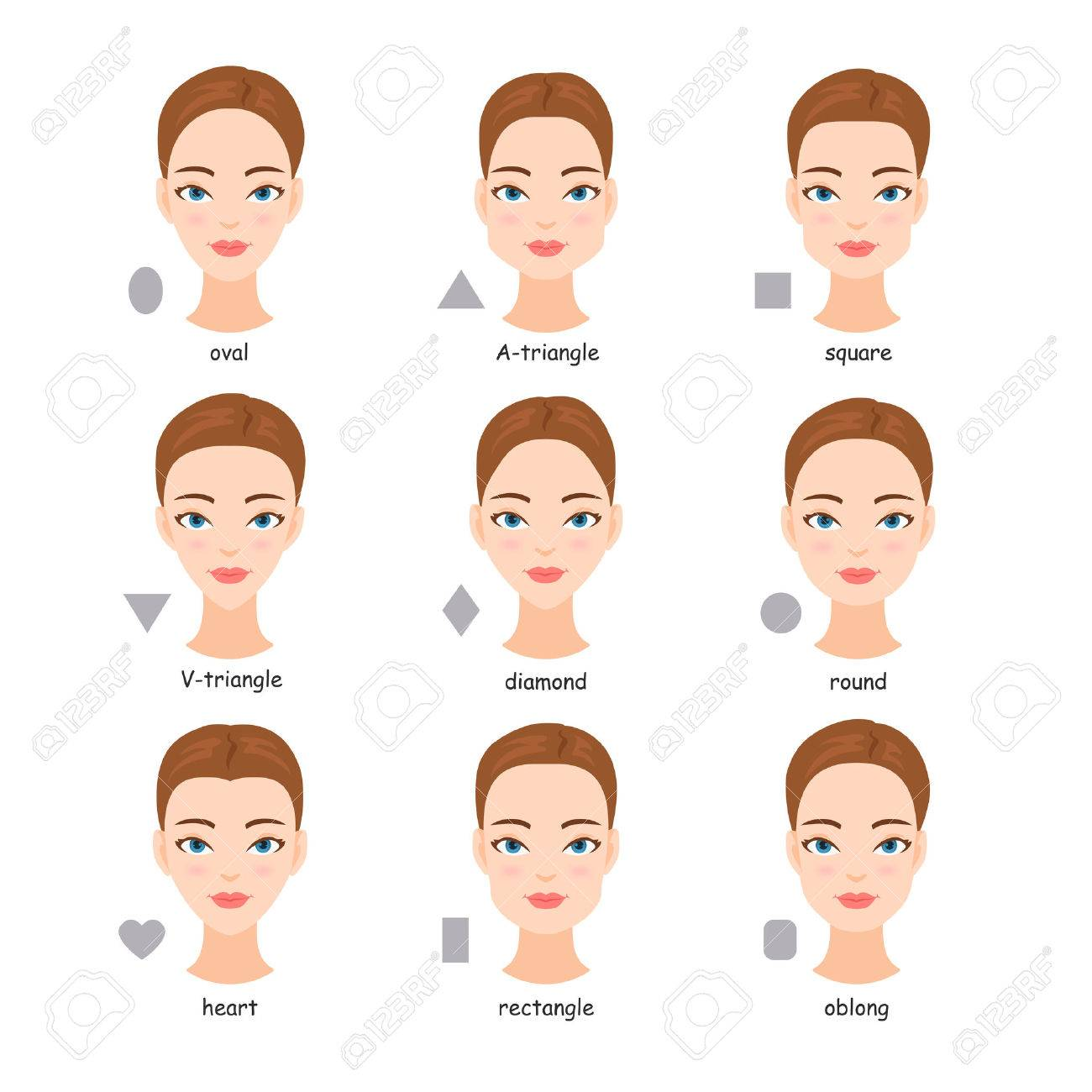 Awe Inspiring Female Face Types Women With Different Face Shapes Royalty Free Schematic Wiring Diagrams Amerangerunnerswayorg