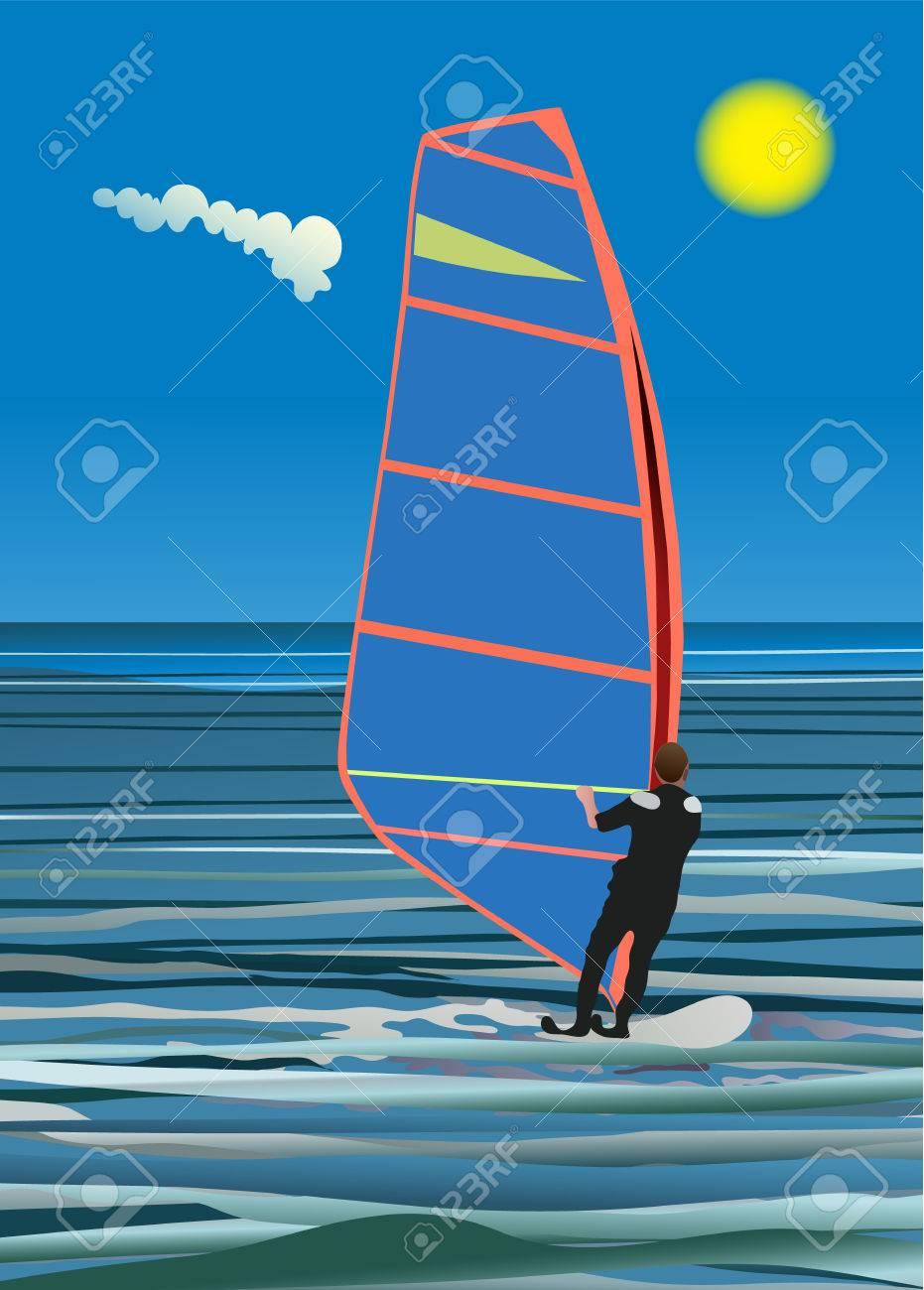 windsurfing Stock Vector - 2996444