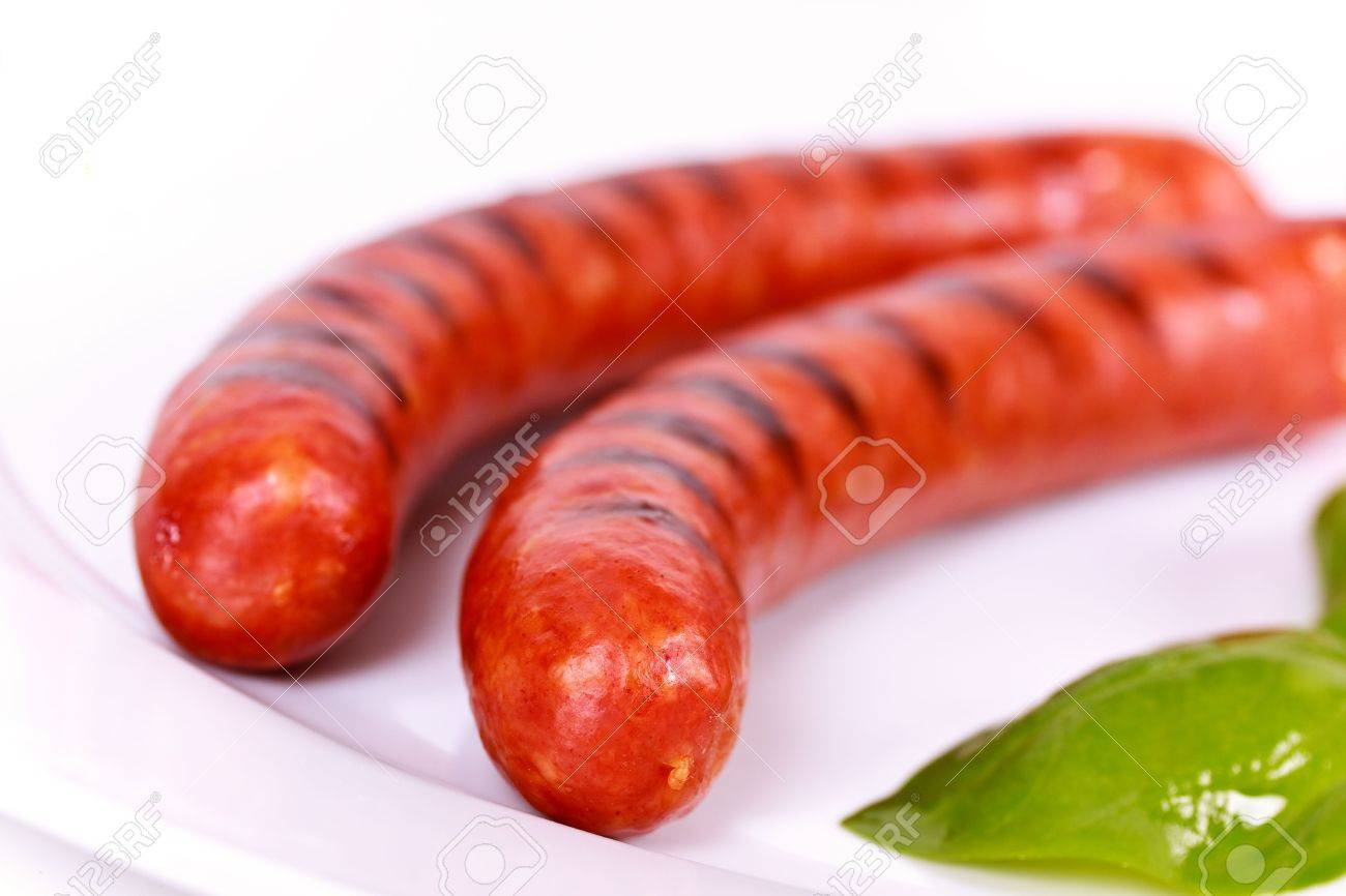 Grilled Sausage on the plate - 5392770