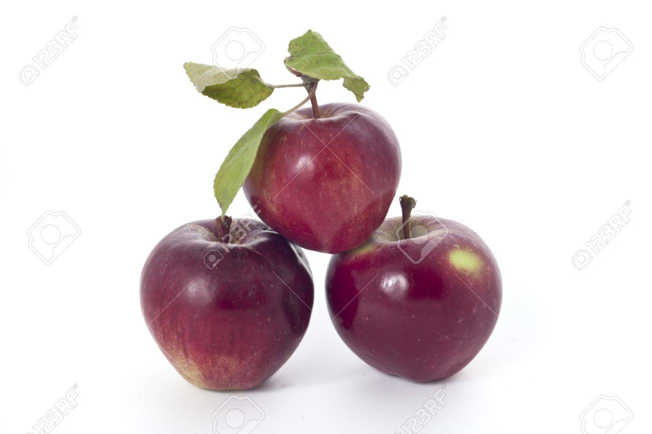 Home grown red apples - not supermarket - on white background Stock Photo - 10486544