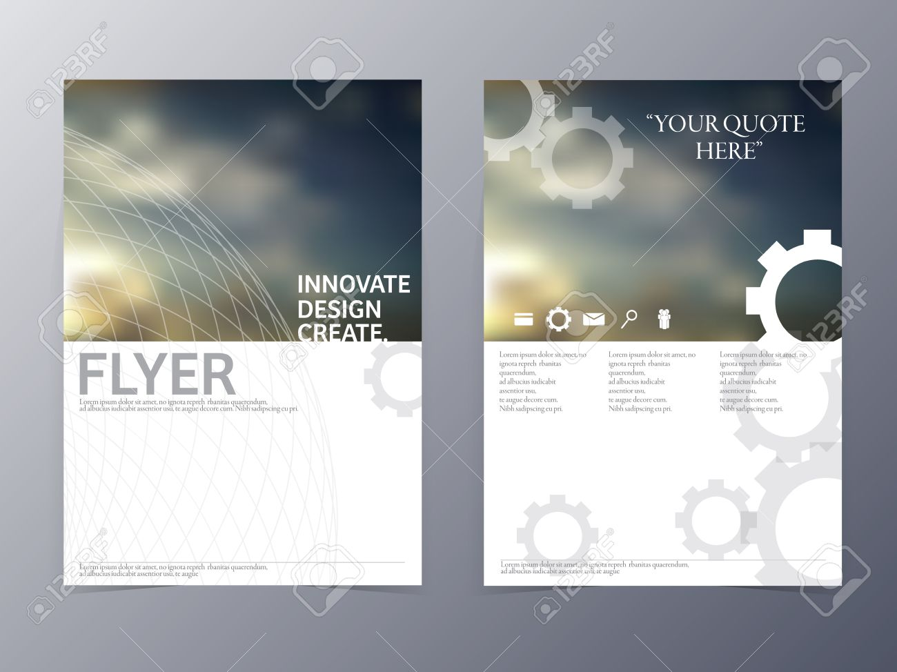 Vector Modern Flyer Brochure Design Template For Use As Coperate ...