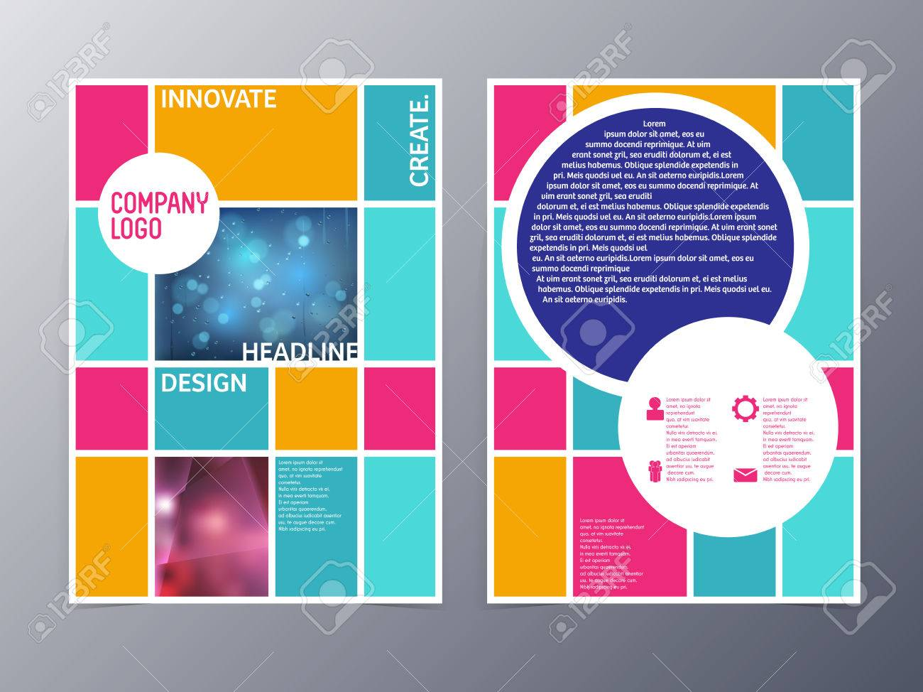 Poster design company - Abstract Colorful Modern Flyer Design Template Vector A4 For Use As Company Anual Report Poster