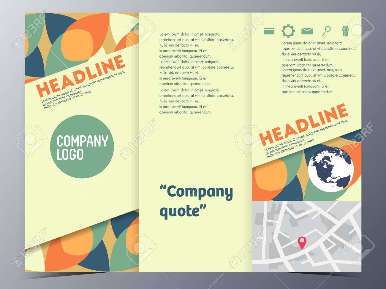 Brochure Template Tri Fold Vector Illustration For Use As Product