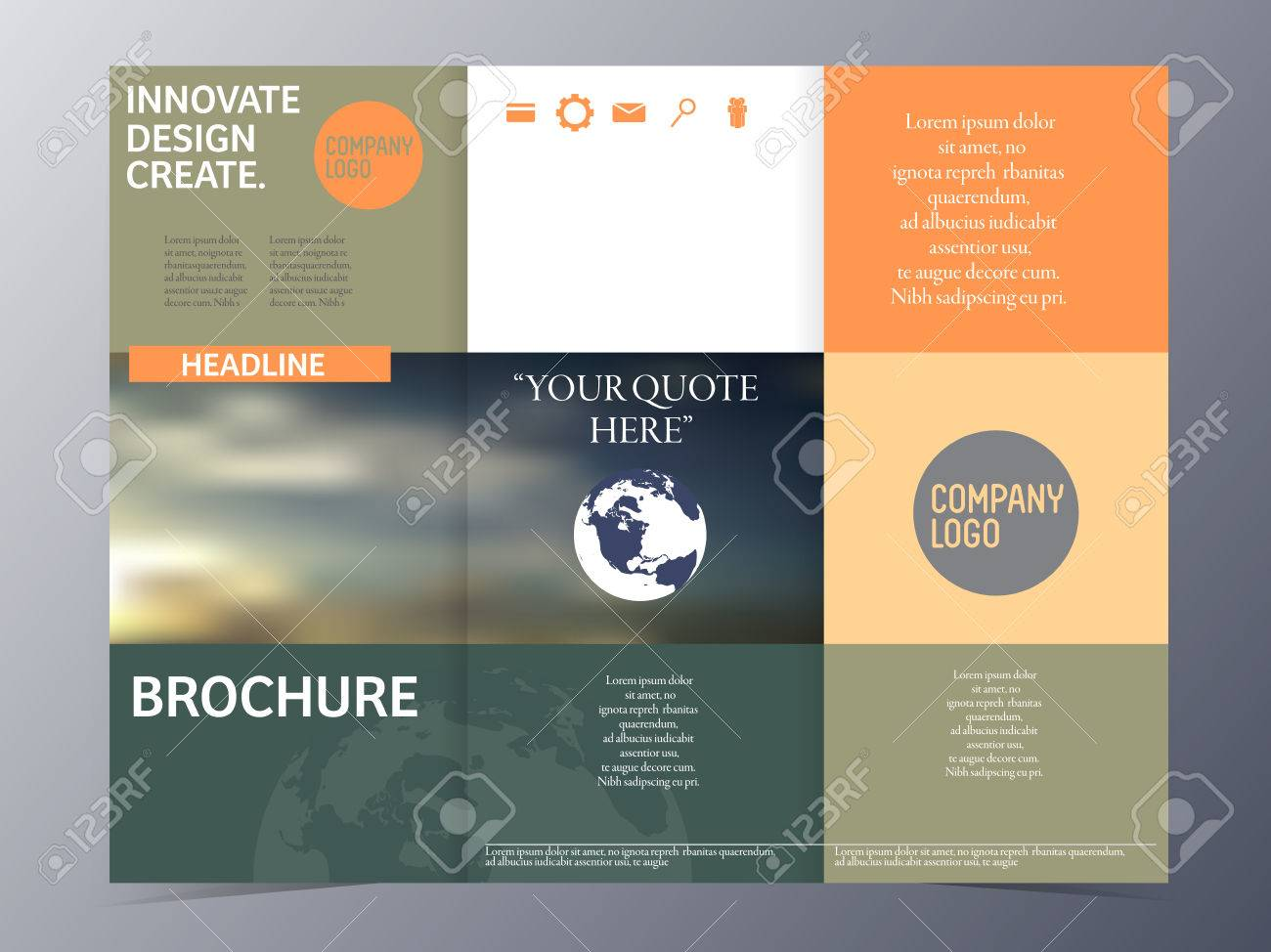 Brochure Template Trifold Vector Illustration For Use As Product – Product Brochure Template