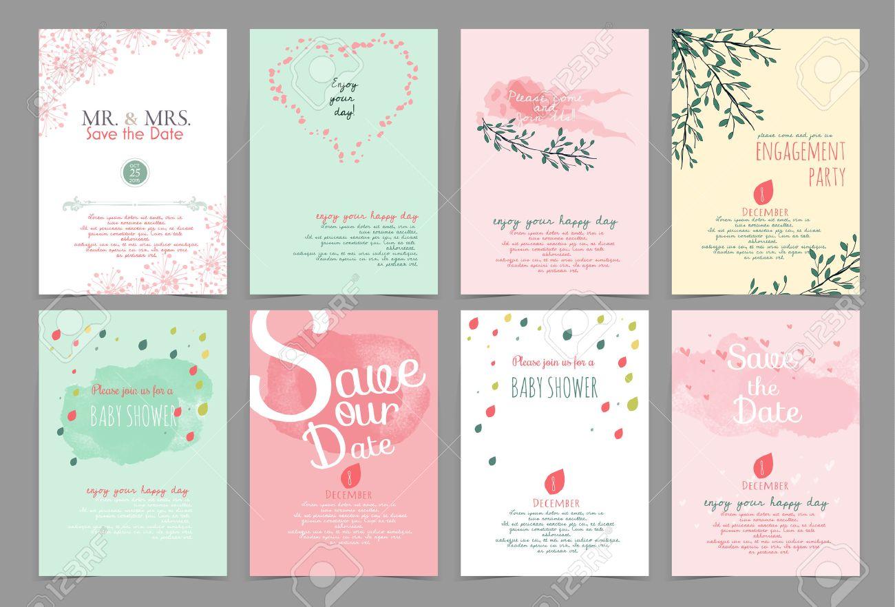 Conjunto De Elementos De Diseño Vintage Fondo Modelo Monograma Para Su Uso Como Tarjeta De Invitación Cumpleaños Día De San Valentín Invitación