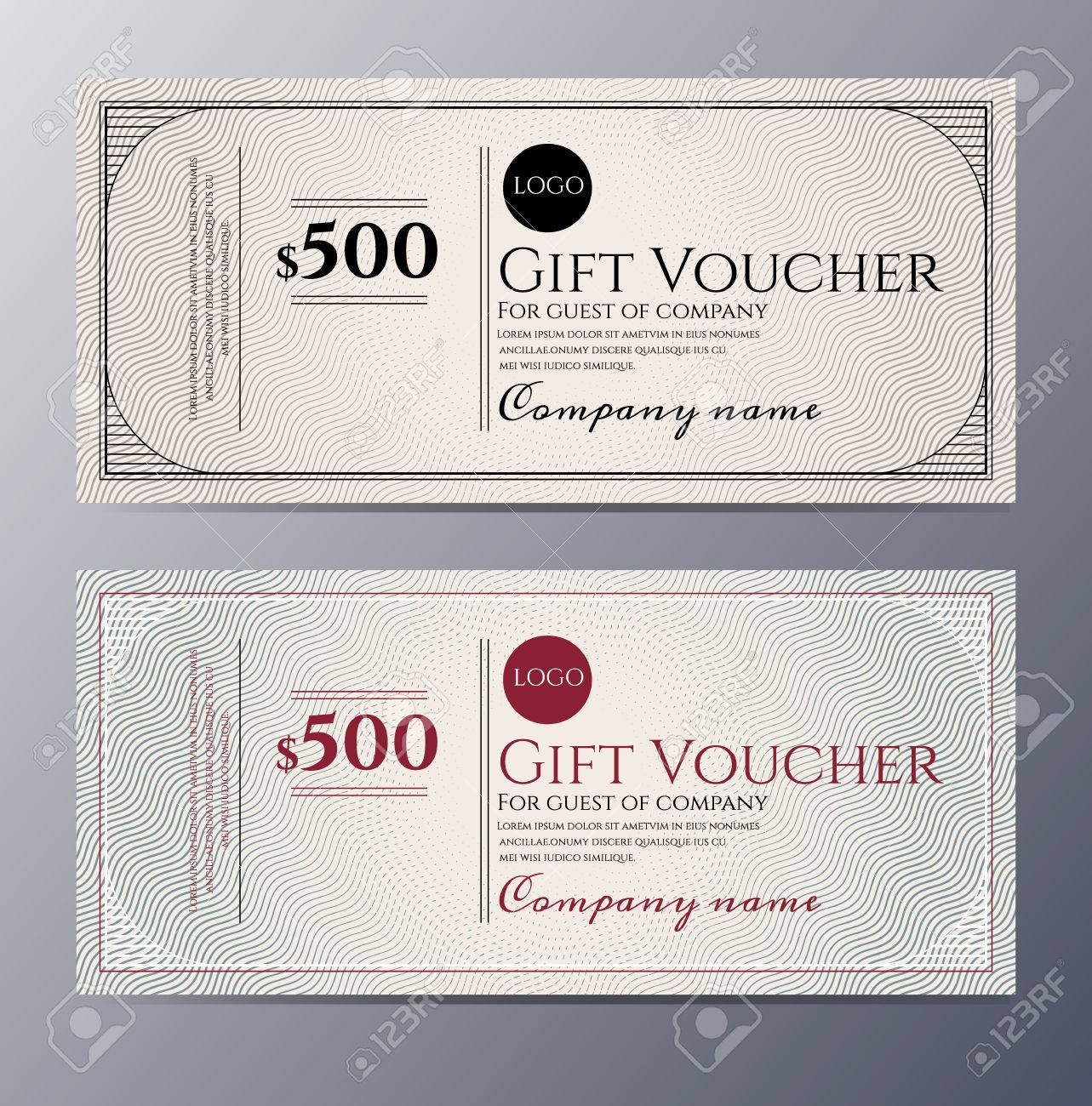 gift voucher template colorful pattern classic premium gift voucher template colorful pattern classic premium style stock vector 48106533