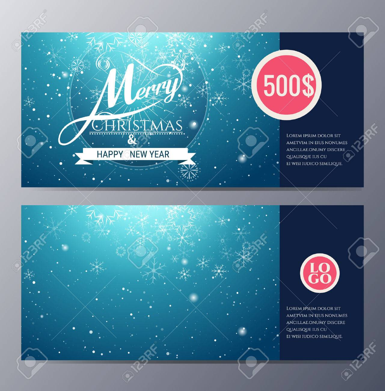 christmas gift voucher template colorful modern style vector vector christmas gift voucher template colorful modern style vector illustration