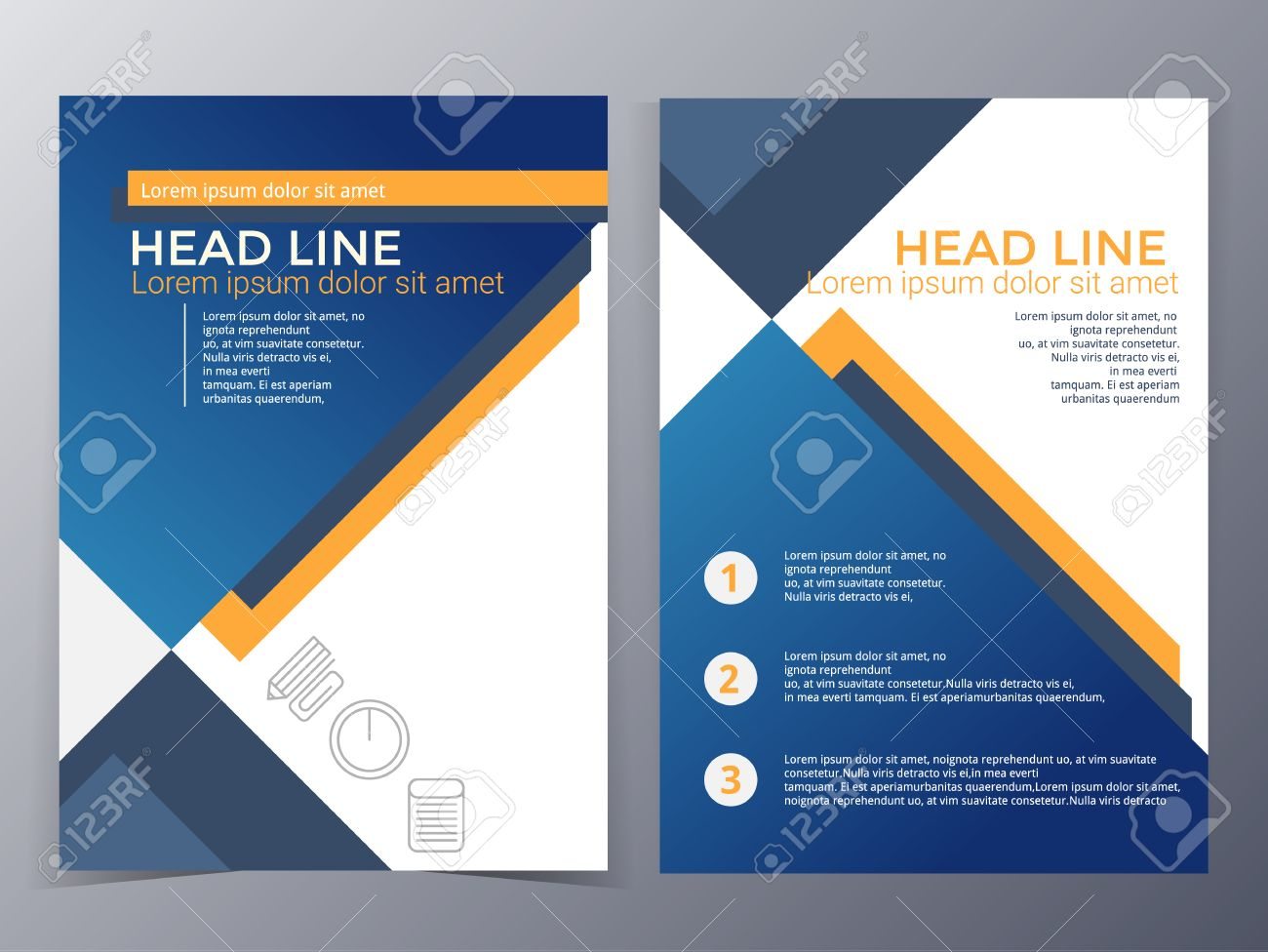 Business And Technology Brochure Design Template In A4 Size – Business Brochure Design