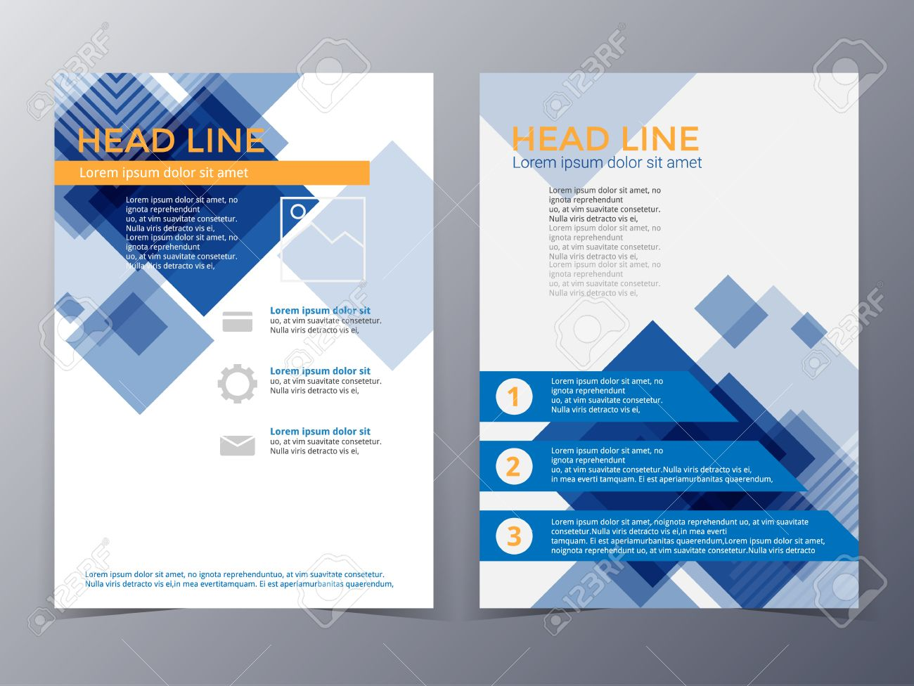 business and technology brochure design template in a4 size