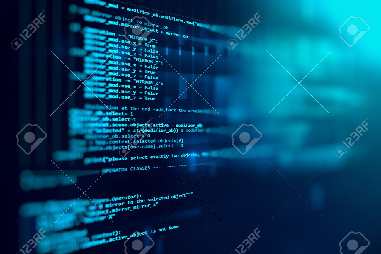Programming code abstract technology background of software developer and Computer script - 57574562