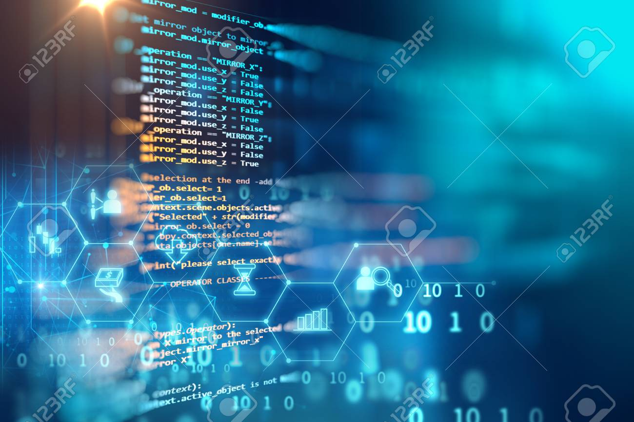 Programming code abstract technology background of software developer and Computer script - 81472179