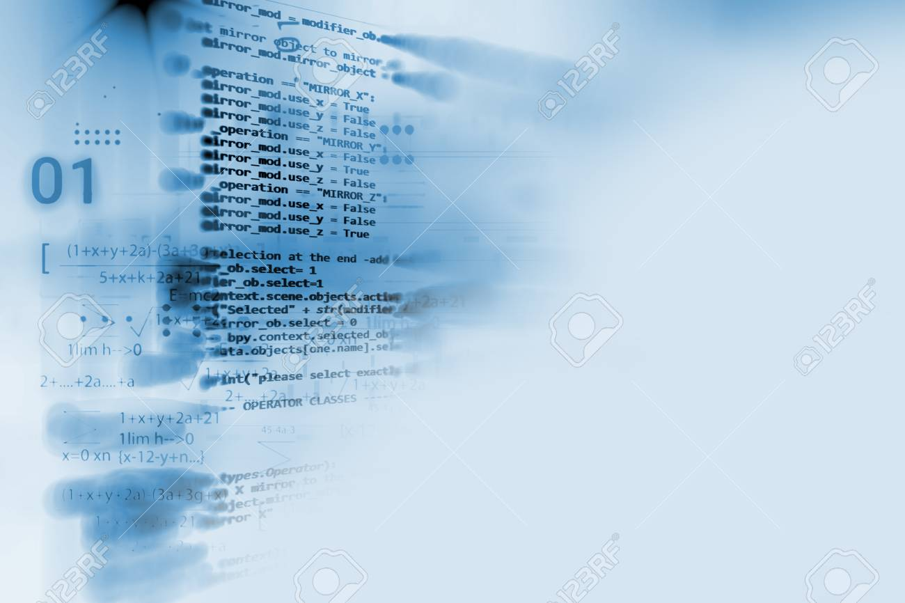 Programming code abstract technology background of software developer and Computer script - 84856056