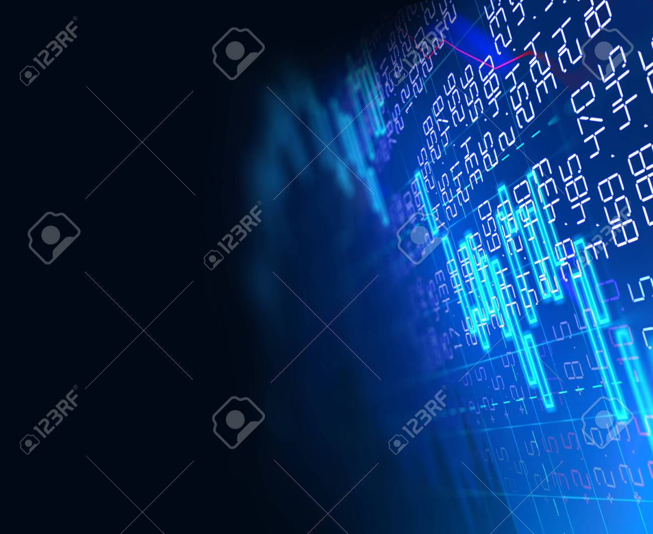financial stock market graph on technology abstract background - 126707142