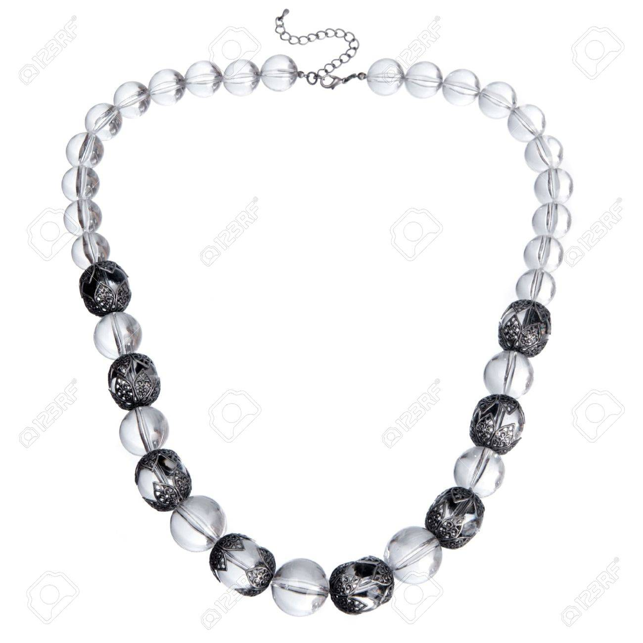 glass necklace isolated on white Stock Photo - 9874052