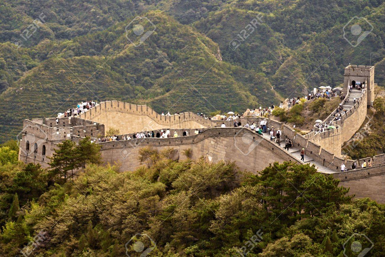 Great Wall of China an people on it Stock Photo - 11321823