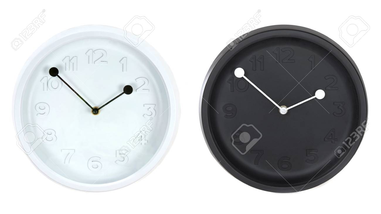 Set Of Modern Round Wall Clocks Isolated On White Background Stock Photo Picture And Royalty Free Image Image 21933379