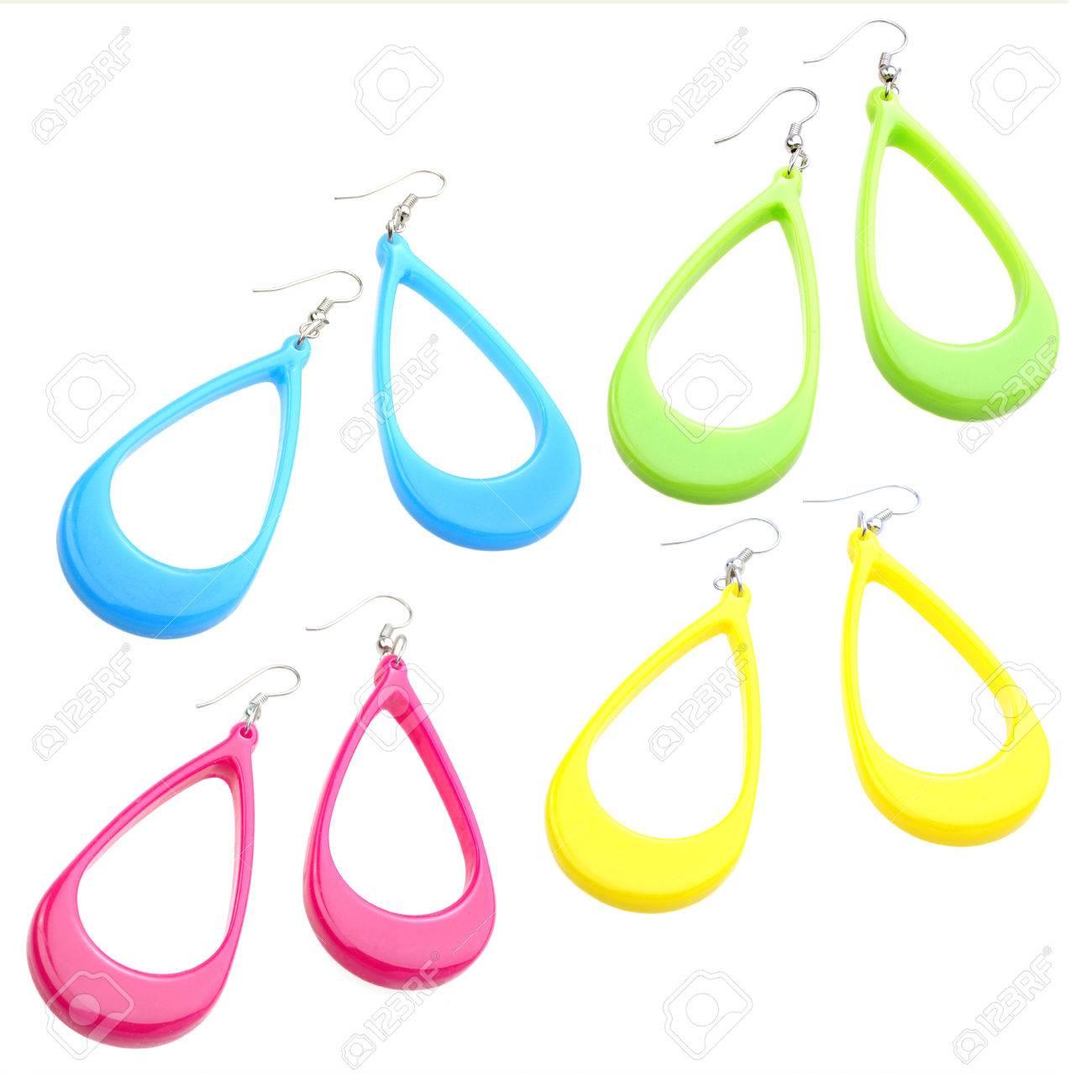 plastique boucle d'oreille