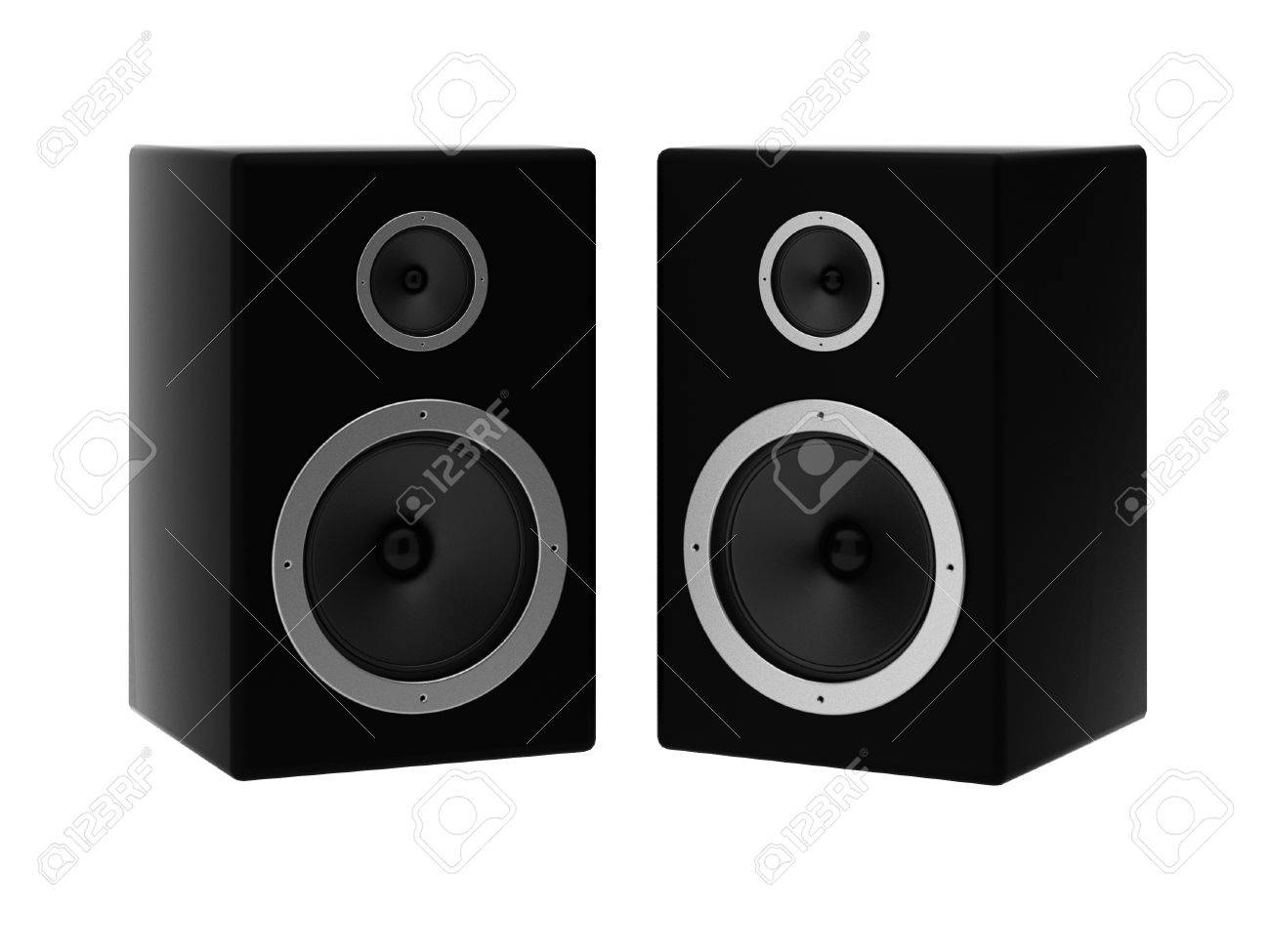 3d render of two speakers Stock Photo - 9135563