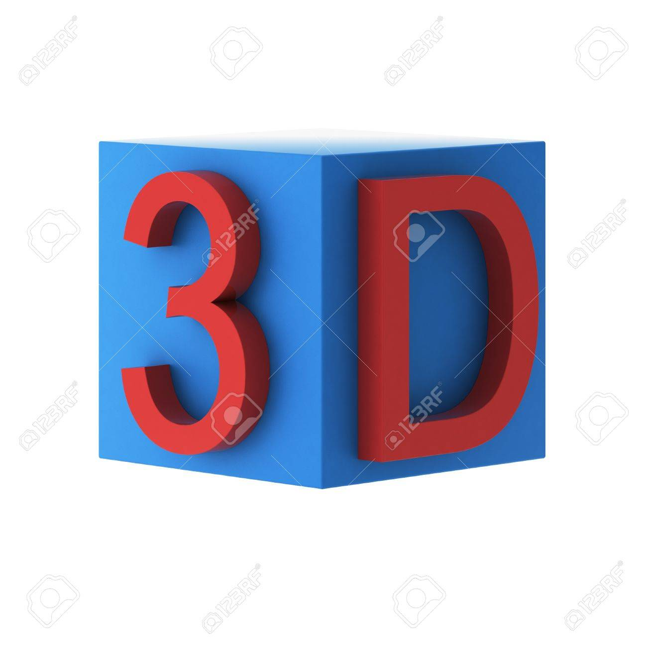 3d render of 3d sign Stock Photo - 9217365