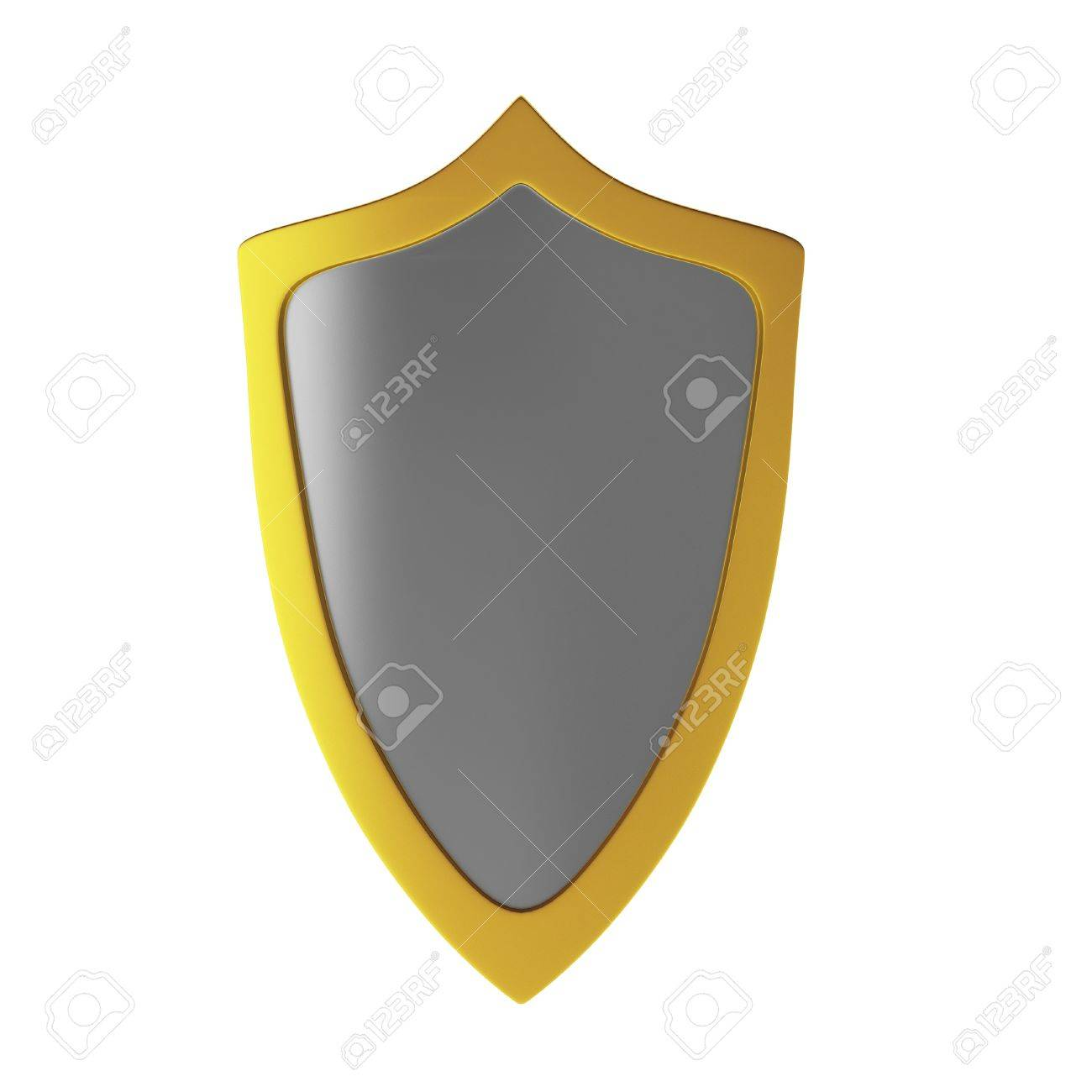 3d render of shield Stock Photo - 9406137