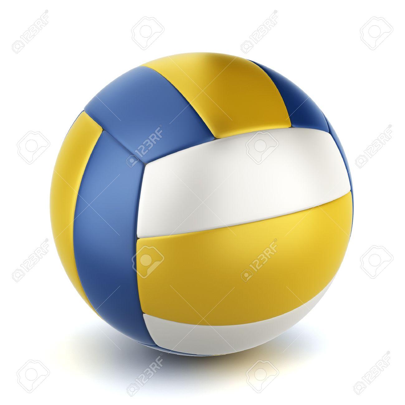 9a1374dee Bola de voleibol. Ilustración 3D sobre fondo blanco Foto de archivo -  18853433