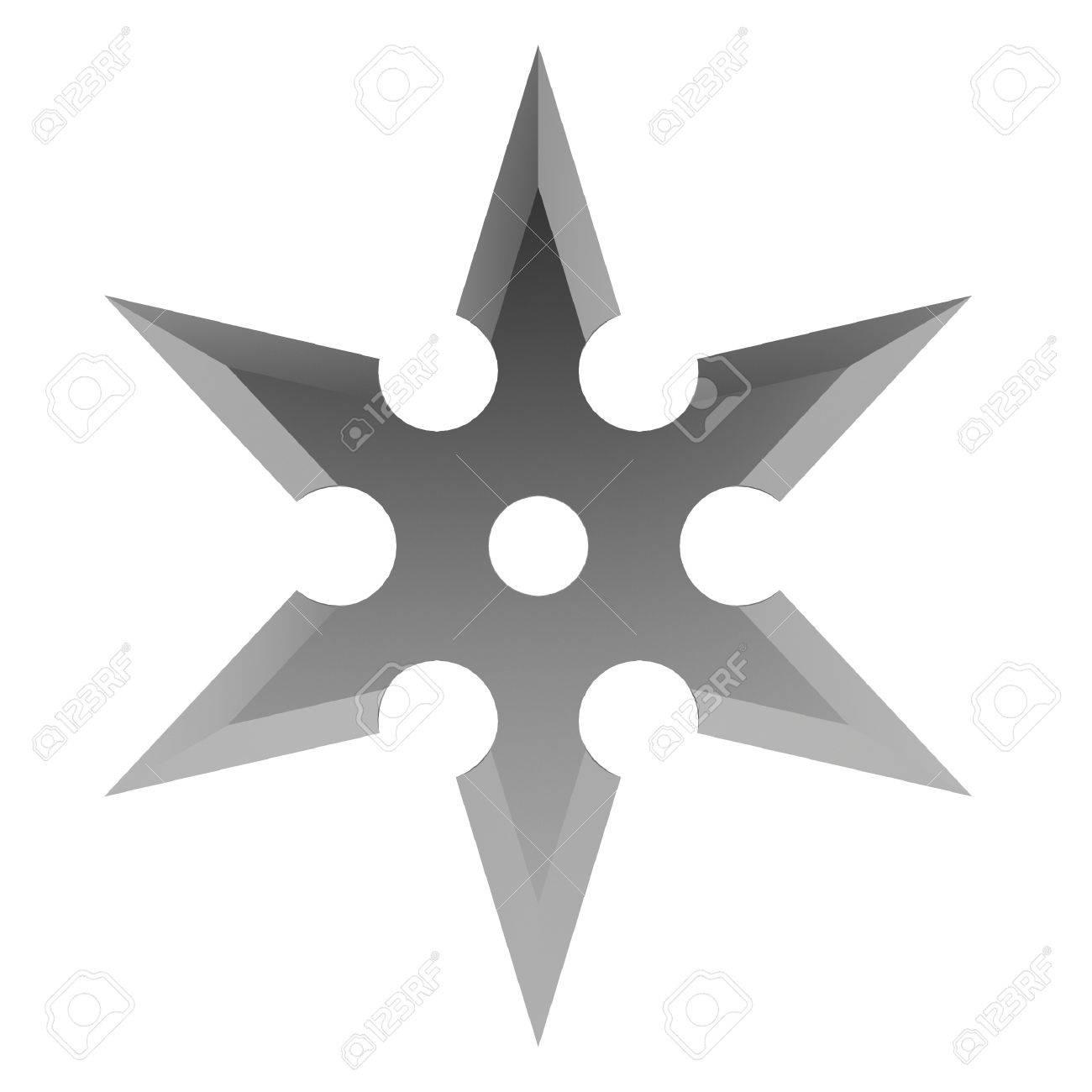 Shuriken. 3d illustration on white background Stock Illustration - 21086324