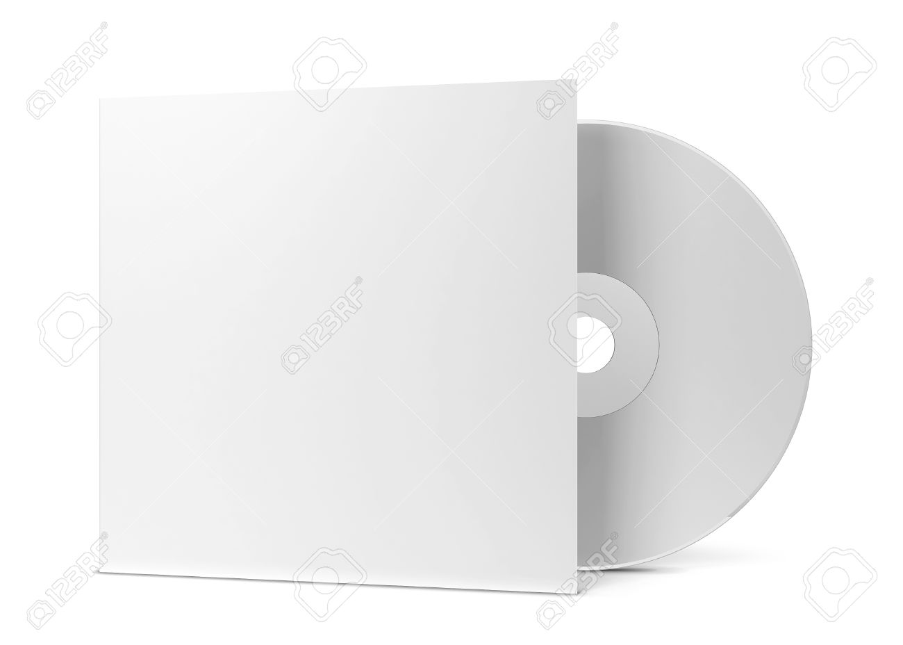 Blank Cd Cover. 3d Illustration Isolated On White Background Stock ...